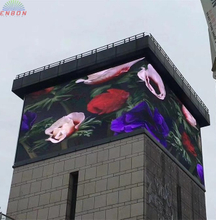 P10 Outdoor 90 Degree Corner RGB LED Display For Commercial Advertising on Walls