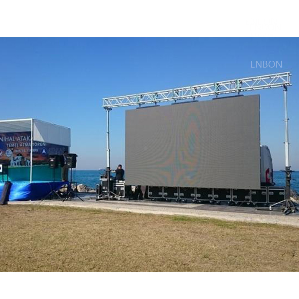 P6.25 Outdoor Cost Effective Rental LED Display Cabinet 500x1000mm